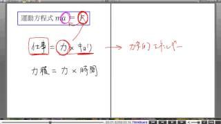高校物理解説講義:「力積と運動量」講義1