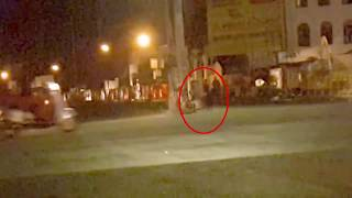 Mysterious Creature Caught On Camera At Night Ghost Or Alien!!