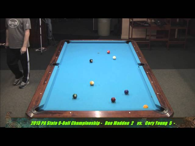 Dan Madden vs Cory Young 2013 PA State 9-Ball Championships
