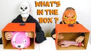 WHAT'S IN THE BOX CHALLENGE 3 !!! - Halloween Édition 🎃 - Swan VS Néo