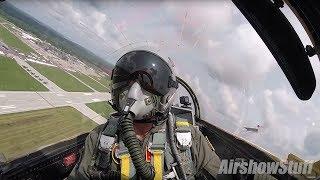 F-100 Super Sabre Cockpit Cam - Terre Haute Airshow 2018