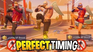 Fortnite - Season 5 Perfect Timing Compilation #8 (Dance Emotes At The Same Time)