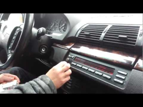 How to remove Radio - BMW X5 (e53) 1999 - 2006 or BMW 5 series (e39)