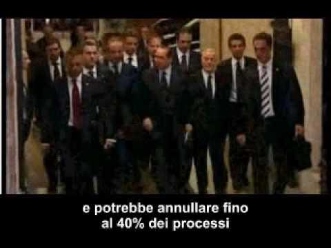 Processo breve (TG spagnolo): la legge che trasforma l'italia in un posto ideale per la malavita