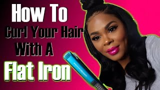 How To Curl Your Hair With A Flat Iron /Straightener