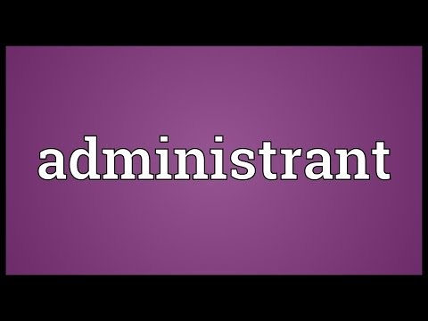 Header of administrant