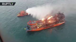 LNG carriers still ablaze in Kerch Strait after one was 'rocked by blast', 11 sailors died