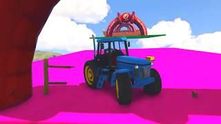 Tracteur Dessin Animé pour Enfants avec Voitures Colorées et Drôle Comptines Bébé