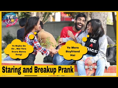 Staring and Breakup on Cute Couples Prank   THF 2.0   Simran Verma   Pranks in India
