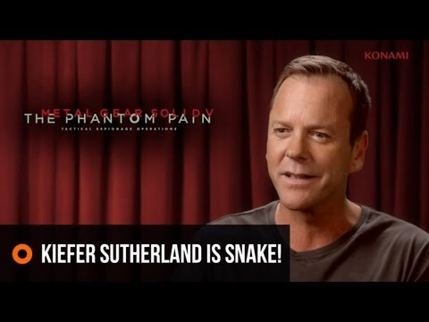 MGS V: Kiefer Sutherland is Snake!
