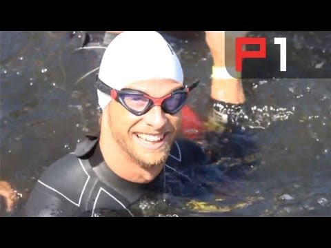 Best bits from F1 driver Jenson Button's triathlon