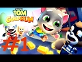 Игра как мультик для детей ГОВОРЯЩИЙ ТОМ БЕГ ЗА ЗОЛОТОМ 1 ПОПАЛИ В ТУННЕЛЬ Tom And Angela Gold Run mp3