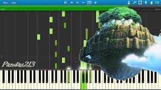 (久石譲) Joe Hisaishi - 'Innocent' - Castle in the sky [Main theme] Piano solo Synthesia