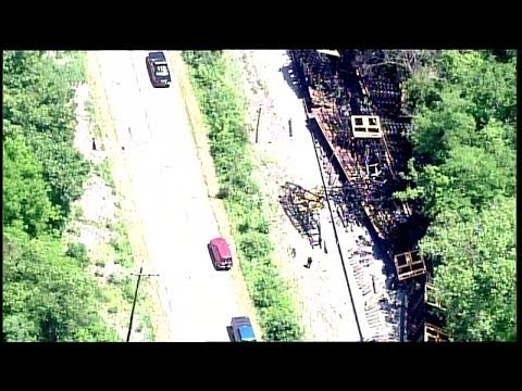 Train derailment in Miami Township
