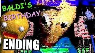 Baldi's Basics 1 Year Birthday Bash! - ( ENDING / FULL PLAYTHROUGH )Manly Lets Play