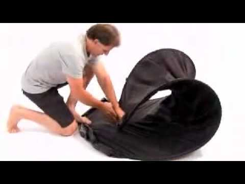 How To Fold Up A Spray Tanning Pop Up Tent Cubicle
