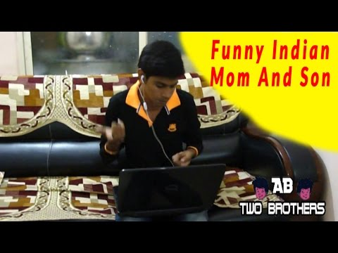 Indian Mom And Son Reaction Funny video