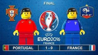 Euro 2016 Final : Portugal vs France 1-0 ( Film in Lego Football Highlights )