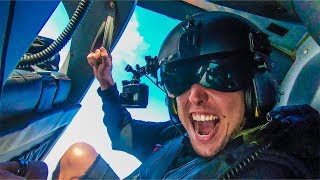 HANGING BY ONE ARM FROM A BLACK OPS HELICOPTER!
