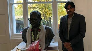 PawanKalyan visited Dr. B.R. Ambedkar memorial before going to the award ceremony