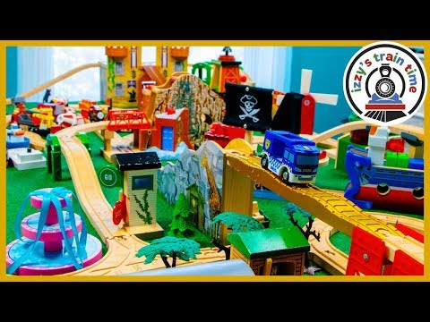 DAD AND SON THOMAS TRACK BUILD! Fun Toy Trains for Kids