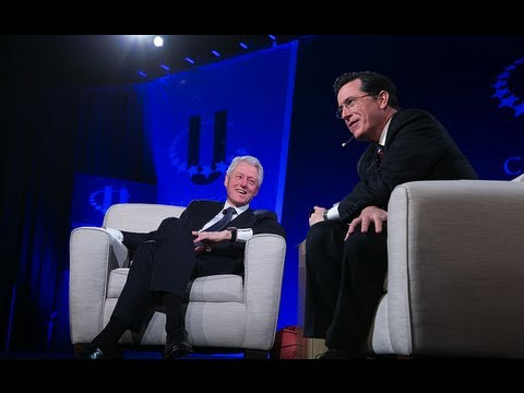 President Clinton and Stephen Colbert Answer Questions from CGI U Attendees