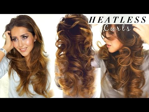 2 ★ LAZY HEATLESS CURLS |  Overnight Waves HAIRSTYLES