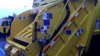 New CNG Crane Carrier Company Leach 2Rlll Rear Loader GARBAGE TRUCK #32554