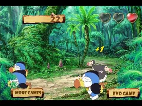 วีดีโอการเล่นเกม Doraemon Jungle Hunting โดราเอมอนนักล่าสัตว์ป่า