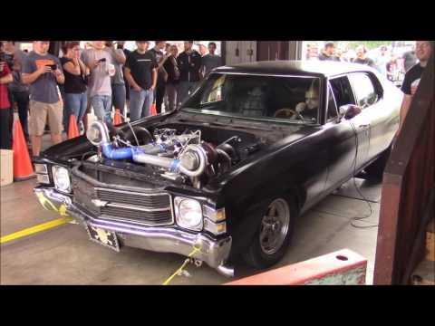 Mad-max Twin-turbo Big Block Chevelle - Sloppy Mechanics Dyno Day Fall 2016