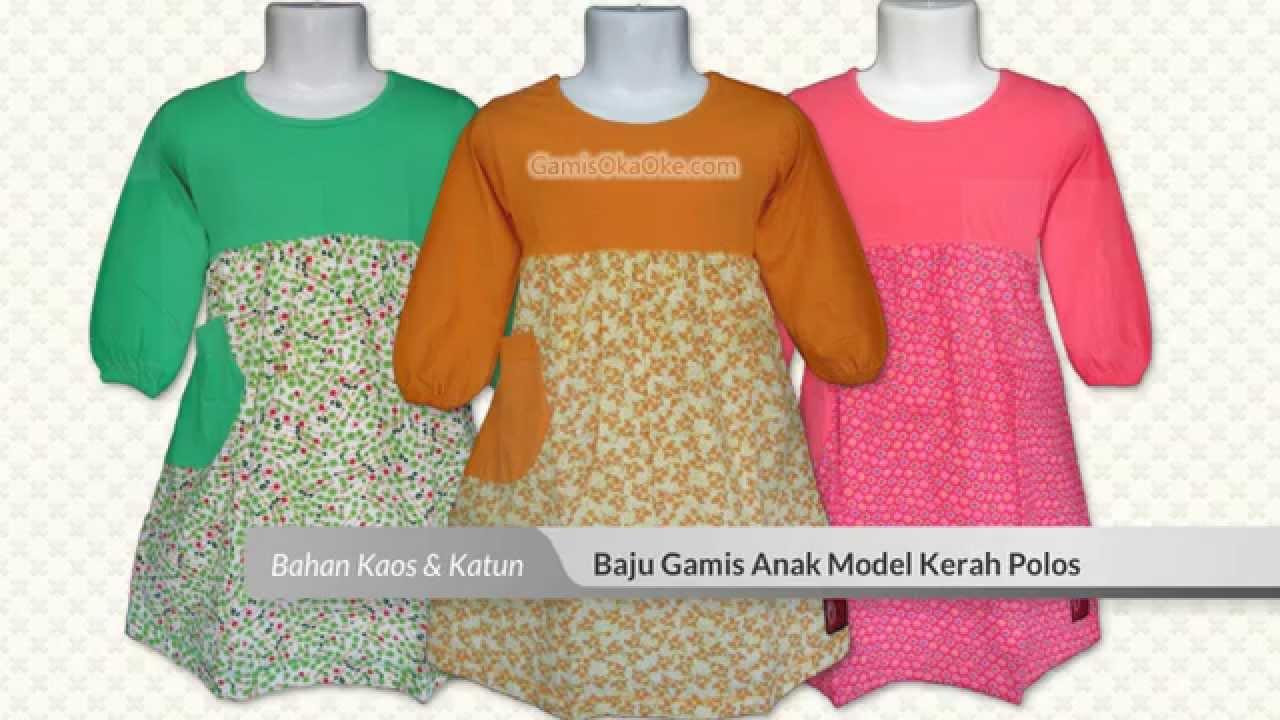 Grosir baju gamis anak perempuan bahan kaos harga murah Baju gamis anak kaos