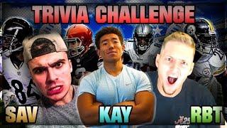 FOOTBALL TRIVIA CHALLENGE W/ RBT & SAVAGE MADDEN!