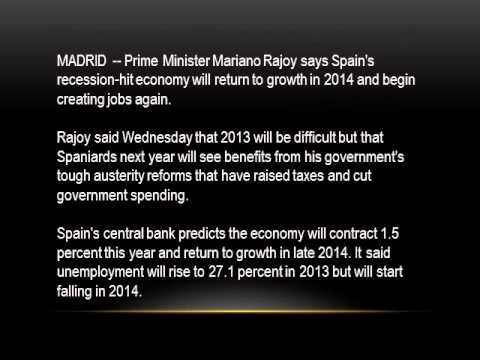 Spain PM says economy will grow in 2014