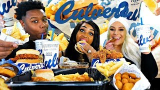 Culver's Mukbang With Bloveslife🍔🍟