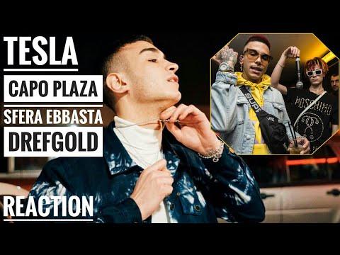 CAPO PLAZA FT. SFERA EBBASTA & DREFGOLD - TESLA   REACTION