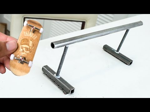 HOW TO MAKE A FINGERBOARD RAIL!!! *Super Easy*