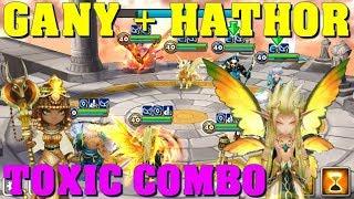 Summoners War - Gany + Hathor = Toxic Combo in World Arena
