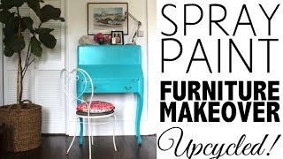 DIY Spray Paint Furniture Makeover | Home Decor