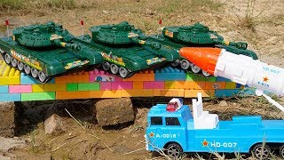 Fire Truck, Crane Truck & Rocket Military Rescue Construction Vehicles, Military Tanks for Kids