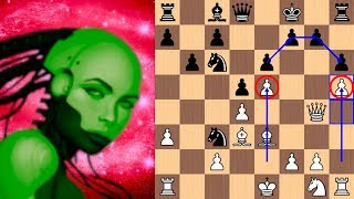 Outer Space Invader Pawn in the French | AI Leela Chess Zero vs Stockfish