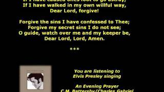 Watch Elvis Presley An Evening Prayer video
