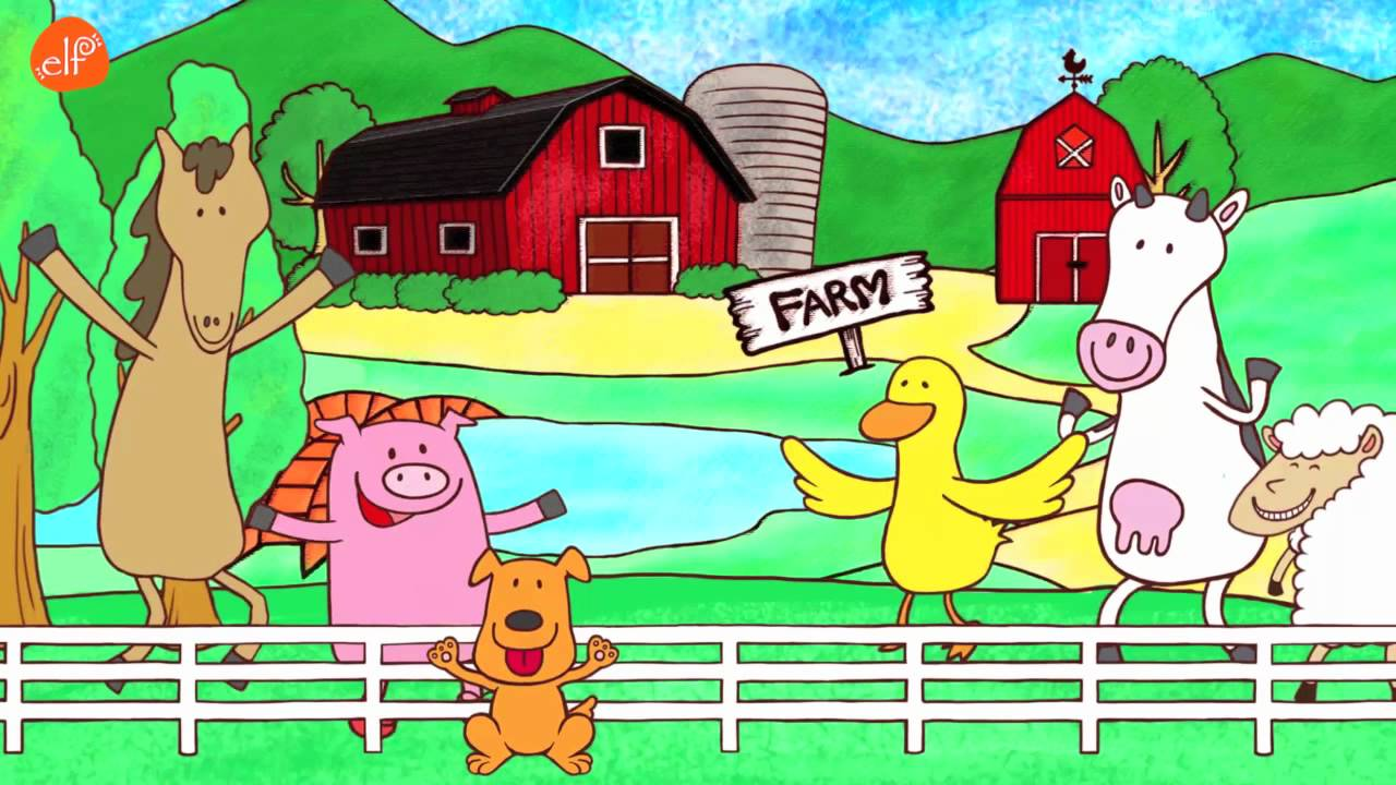 Fun Animals Song Walk Around The Farm Elf Learning