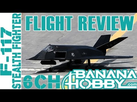 F-117 Stealth Fighter 70MM RTF EDF Flight Review! Full Retracts and Bomb Bay!  AWESOME!
