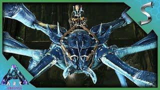 I GOT CRABS! KARKINOS TAMING & THROWING MY TRIBEMATES! - Ark: Aberration [DLC Gameplay E9]