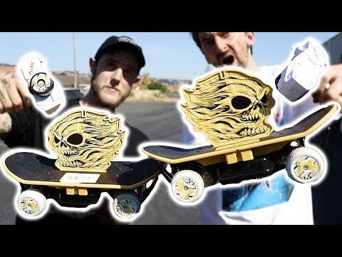 AWESOME MINI RC SKATEBOARD VS THE BRAILLE DROP
