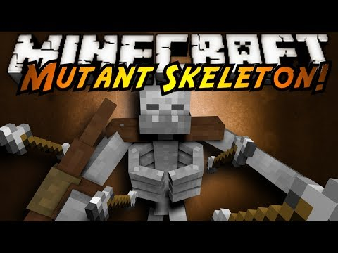 Minecraft Mod Showcase : MUTANT SKELETONS!