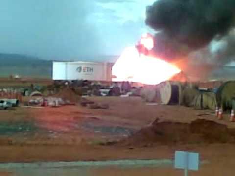 Explosão do tanque de alcool da ETH.