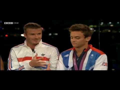 2012 London Olympics BBC interview with Tom Daley includes David Beckham