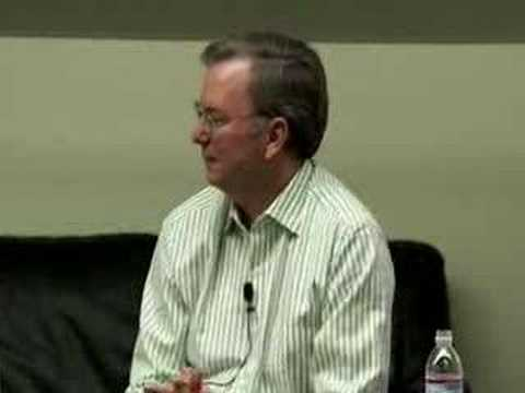 Eric Schmidt Seminar with Stanford Journalism Students