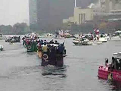 Duck Boats at Red Sox Rolling Rally Video